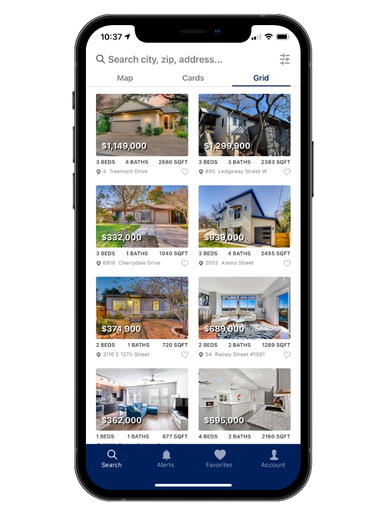 Austin Texas Real Estate - Home Search Mobile App